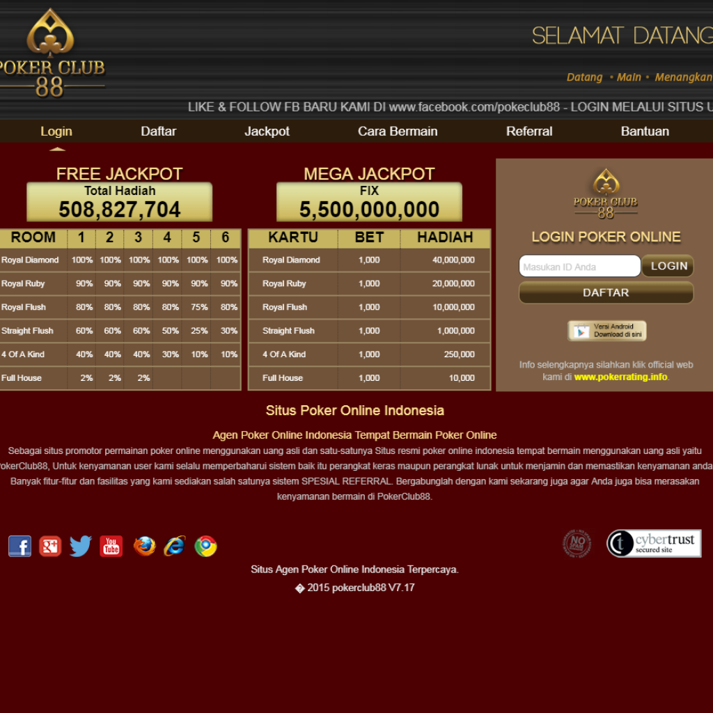 PokerClub88 Game Poker Online Indonesia